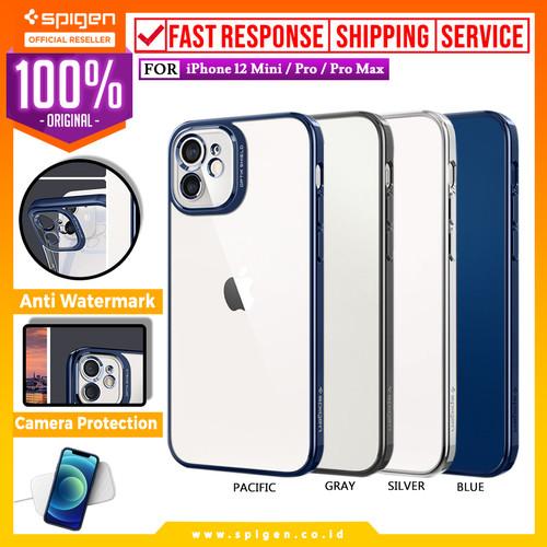 Foto Produk Case iPhone 12 Pro Max 12 Mini Spigen Optik Crystal Soft Clear Casing - 12 Mini, Chrome Blue dari Spigen Official