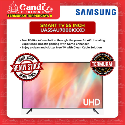 Foto Produk SMART TV LED TV SAMSUNG 55 INCH UA55AU7000KXXD dari Candi Elektronik Solo