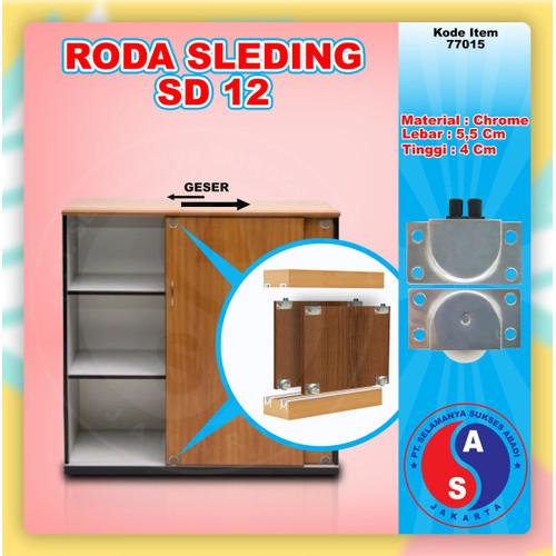 Foto Produk Roda Sliding Besi Box SD 12 / Roda Pintu Lemari Geser / 77015 dari WINSTON-OK OFFICIAL STORE