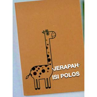 Foto Produk buku tulis polos A5   notebook   kraft   coklat   bookpaper  custom - JERAPAH, ISI POLOS dari Tat Tet Tot
