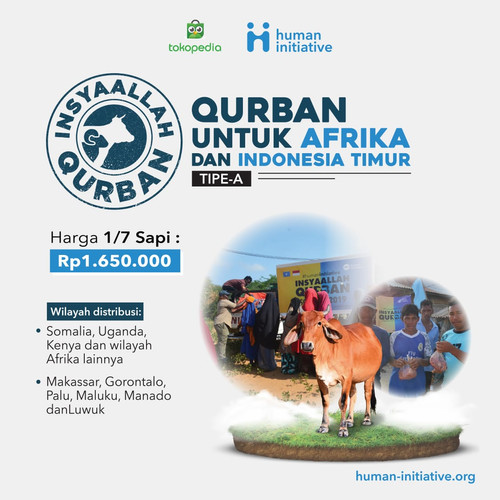 Foto Produk Qurban 1/7 sapi Tipe A dari Human Initiative