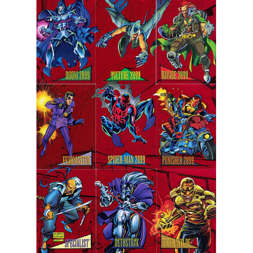 Foto Produk Marvel Universe 1993 Trading Cards Insert Red foil 2099 Set dari Charu Toys