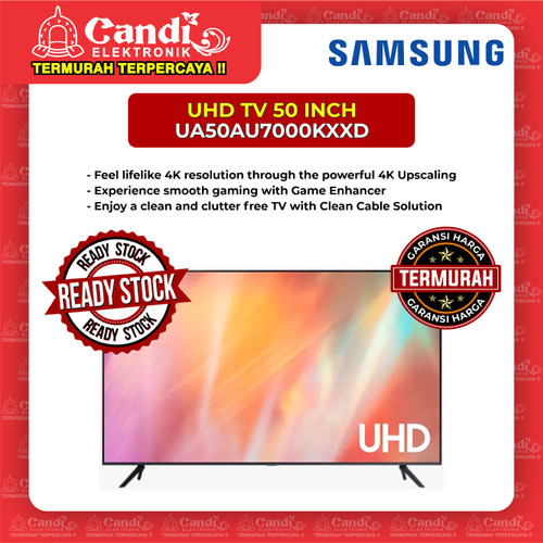 Foto Produk SMART TV LED TV SAMSUNG 50 INCH UA50AU7000KXXD dari Candi Elektronik Solo