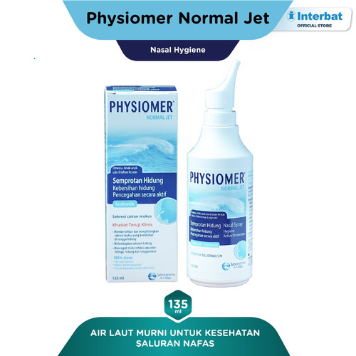 Foto Produk Physiomer Normal Jet Nasal Spray Hygiene Semprot Hidung - 135ml dari Interbat Consumer Health