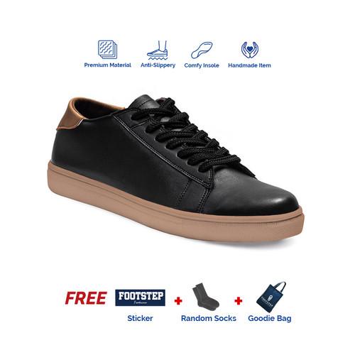 Foto Produk Sepatu Sneakers Pria Footstep Footwear - Alter Black Gum - 39 dari Footstep Footwear