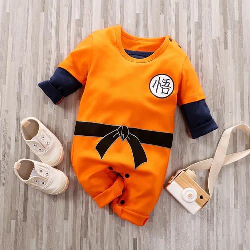 Foto Produk Jumper bayi karakter Goku Dragonball baju bayi import 0-2 tahun - UK59(0-3 Bulan) dari Littlemomoko