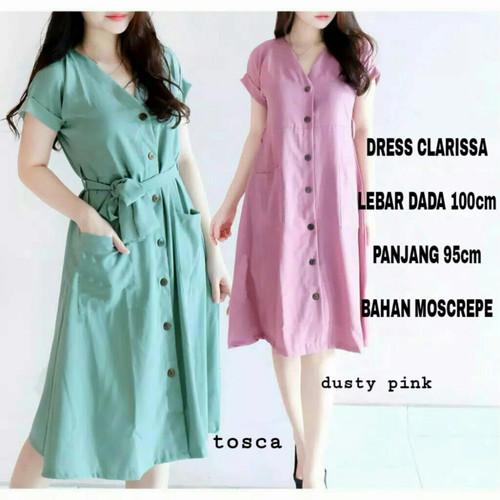 Foto Produk BCA~Dress Clarisa/Dress Busui/Dress Wanita (J) - Tosca dari Berkat Cipta Anugrah