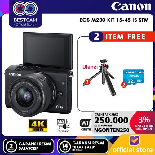 Foto Produk Canon EOS M200 Mirrorless Digital Camera Kit 15-45mm - BLACK - Unit Only dari BestCam