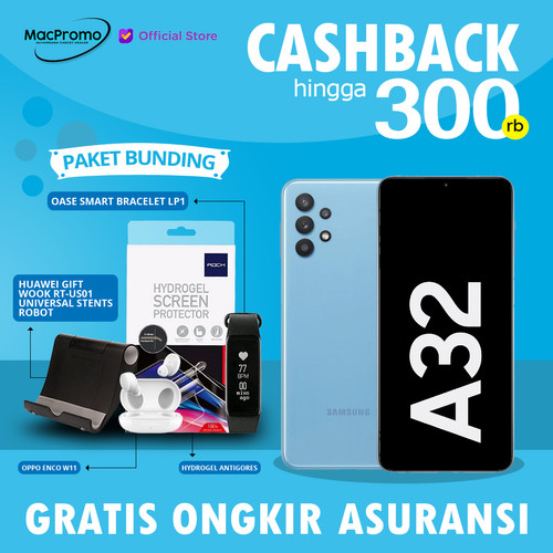 Foto Produk Samsung Galaxy A32 8/128GB 6/128GB Garansi Resmi 8 GB 6 GB 128 GB - 6GB 128GB, NonBundle dari Mac Promo