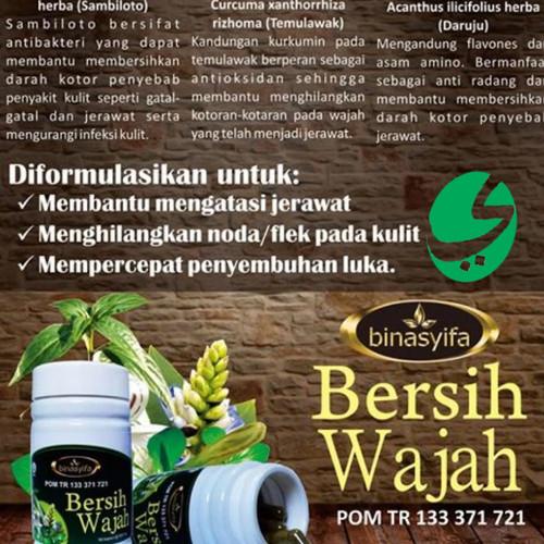 Foto Produk Obat Jerawat Pembersih Wajah Kusam BERSIH WAJAH Binasyifa Herbal dari Yazid Bantul