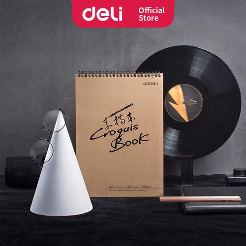 Foto Produk Deli sketch book 60 lembar , buka vertikal,atau diputar 73634 73635 - A4 dari Deli Stationery