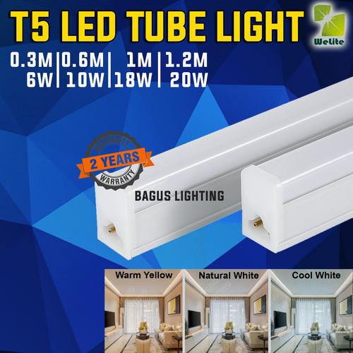 Foto Produk LAMPU T5 LED TUBE LIGHT TUBELIGHT 30CM 60CM 100CM 120CM 6W 10W 18W 20W - Warm White, 6W-30cm dari Bagus Lighting LED