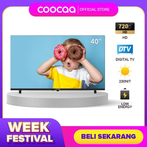 Foto Produk [NEW PRODUCT] Coocaa LED TV 40 inch - DigitalTV DVB T/T2 (Model 40D5T) dari Coocaa Official Store