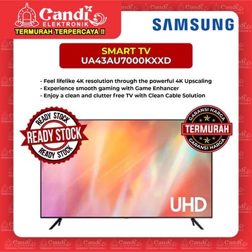 Foto Produk SMART TV LED TV SAMSUNG 43 INCH UA43AU7000KXXD dari Candi Elektronik Solo