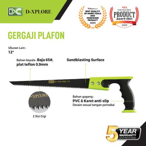 """Foto Produk GERGAJI PLAFON GG PVC D-XPLORE 12"""" dari VININDO OFFICIAL STORE"""