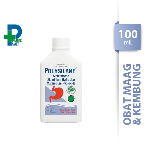 Foto Produk (ISI 2 BOTOL) Polysilane Sirup / Suspensi 100 mL Obat Maag dan Kembung dari Pharos Official Store