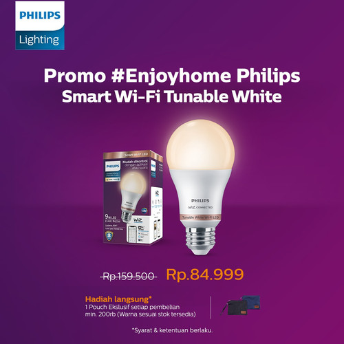 Foto Produk Philips Smart Wi Fi LED 9W - Tunable White (Putih) dari Philips Lighting ID