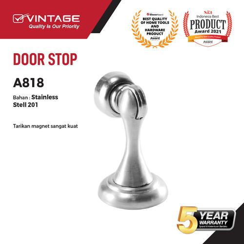 Foto Produk DOOR STOPPER/ PENAHAN PINTU MAGNETIC STAINLESS STEEL VINTAGE 818 dari VININDO OFFICIAL STORE