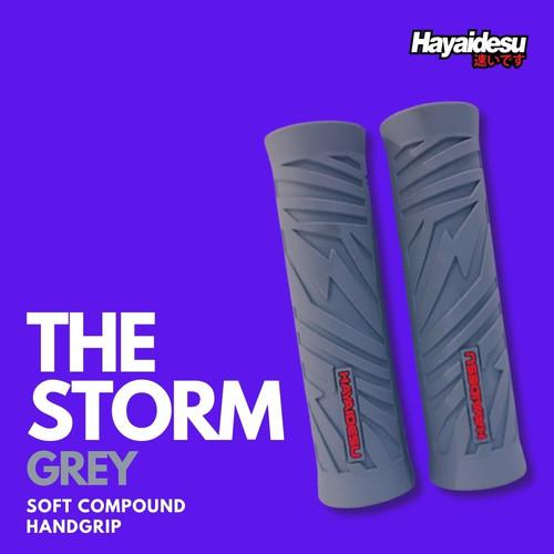 Foto Produk Hayaidesu Handgrip THE STORM - Hand Grip Stang Motor Universal - Abu-abu dari Hayaidesu Indonesia