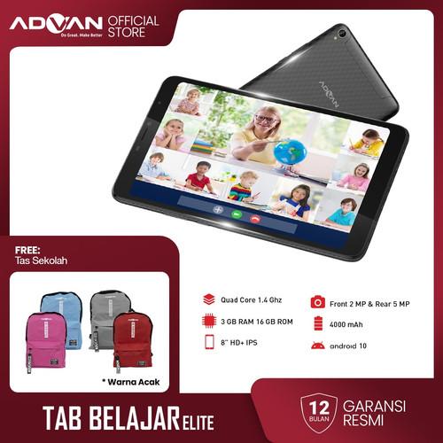Foto Produk Advan Tab Belajar Elite 8 Inci 3GB 16GB Quadcore Android10 Garansi dari Advan Official Store