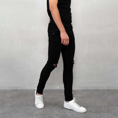 Foto Produk celana jeans hitam sobek ripped slim fit denim slim fit houseofcuff - 27 dari House of Cuff