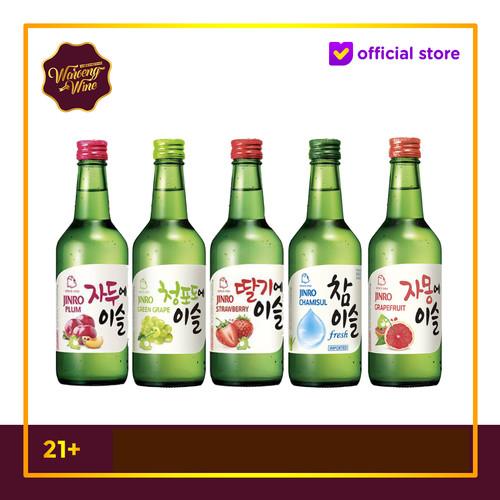 Foto Produk TERLARIS Soju Jinro Chamisul Original Green Grape Strawberry Plum - Original dari Waroeng Wine GS
