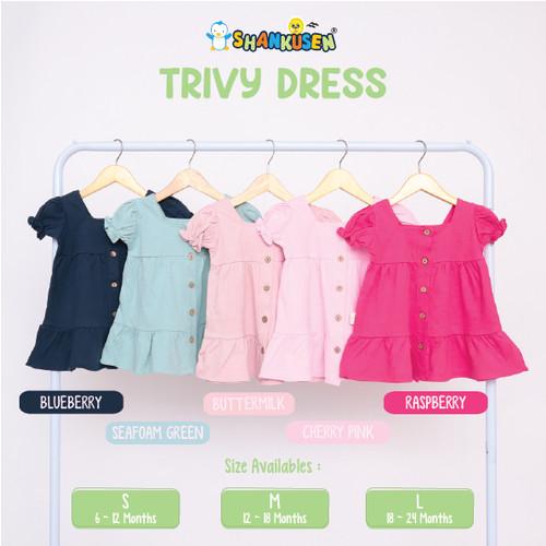 Foto Produk Shankusen Trivy Dress/ Dress Bayi Anak Perempuan/ Baju Anak Perempuan - Buttermilk, S dari Shankusen Baby Official