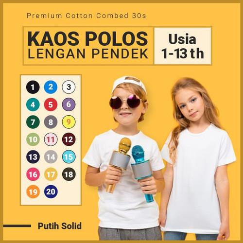 Foto Produk Kaos Polos Anak Putih - 1-2 THN dari Posikids