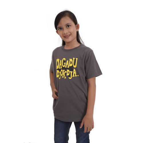 Foto Produk Kaos Dagadu Bocah Kakak Official - KLPD Kuning 3D - M dari Dagadu Official Shop