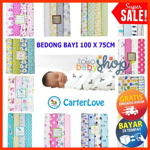 Foto Produk Bedong 4in1 Kain Bayi by Carter Carters Besar Jumbo Selimut Isi 4 - 1 PCS RANDOMBOY dari Tokobabyshop