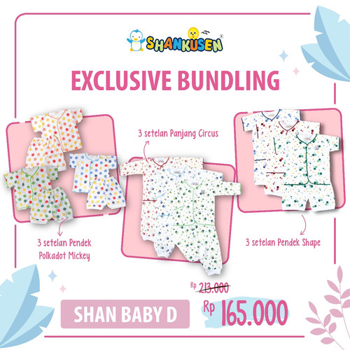 Foto Produk Shankusen EXCLUSIVE BUNDLING - New Normal D (9 stel baju bayi newborn) dari Shankusen Baby Official