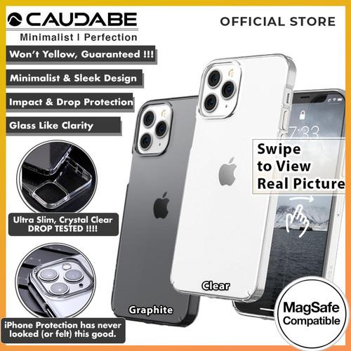 Foto Produk Original Caudabe Lucid Clear Case iPhone 12 Pro Max 12 Pro 12 12 Mini - 12 Pro or 12, Clear dari Caudabe Official