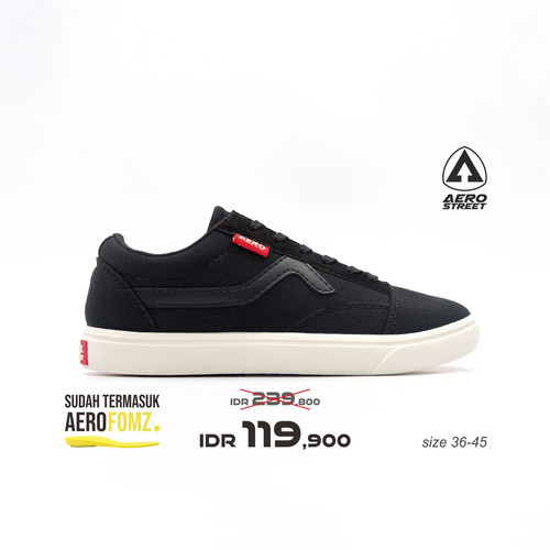 Foto Produk Aerostreet 36-45 Massive Low Hitam Hitam-Sepatu Sneakers Casual 21AA30 - 36 dari Aerostreet