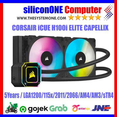 Foto Produk Corsair iCUE H100i Elite Capellix CW-9060046-WW Liquid Cooler RGB dari silicon ONE Computer