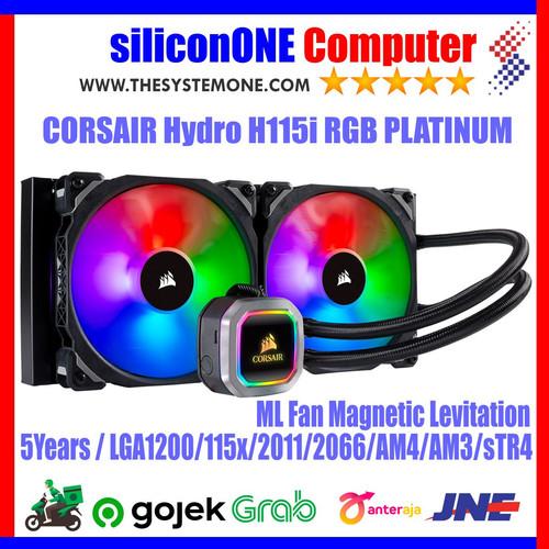 Foto Produk Corsair Hydro Series H115i RGB Platinum 280mm CW-9060038-WW dari silicon ONE Computer