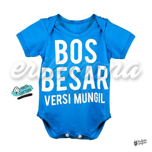 Foto Produk [ermon] jumper bayi lucu bos besar - s, Hitam dari ermon baby and kids