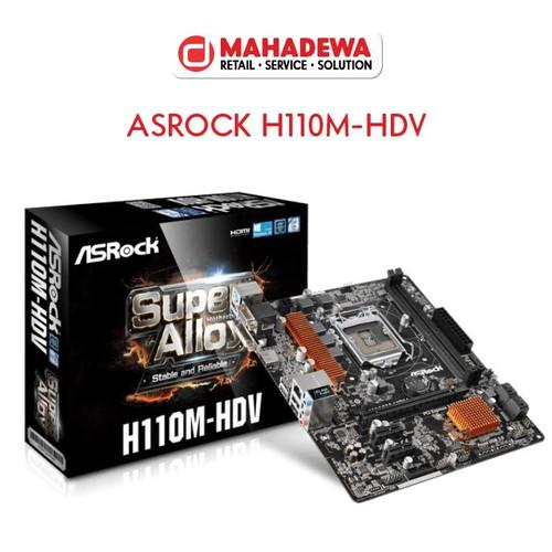 Foto Produk Asrock H110M-HDV dari Dewa Computer Makassar