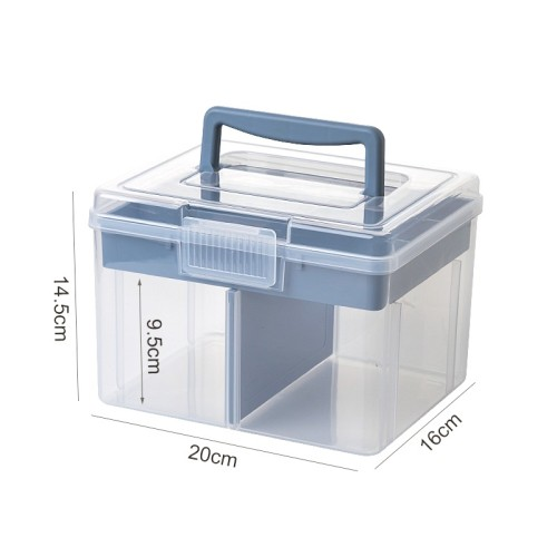 Foto Produk Oxihom Tempat Kotak penyimpanan box mainan lego dan perkakas tool box - S3624 Biru dari Oxihom