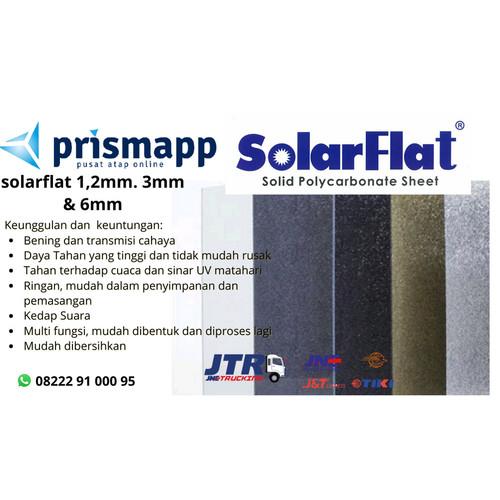 Foto Produk Solarflat 1.2mm, Atap Solid Solartuff, Solar Flat - clear/bening dari Prismapp