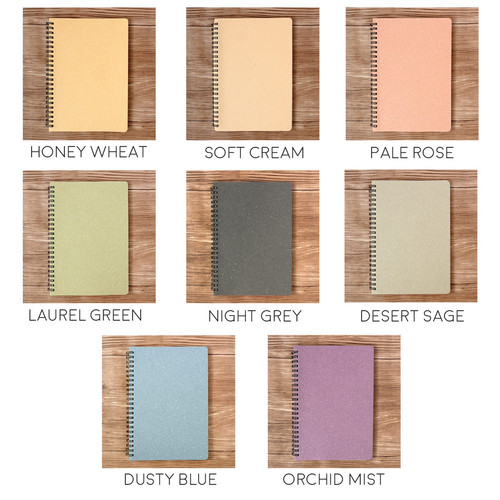 Foto Produk Panmomo Colors of Autumn Spiral Ruled Notebook A5 / Buku Tulis A5 - Dusty Blue dari Pinkabulous