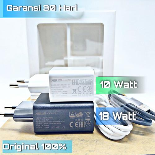Foto Produk Fast Charger Bawaan Asus Zenfone Max Pro M1 M2 Original 100% - 10Watt Hitam dari Charger Original Store