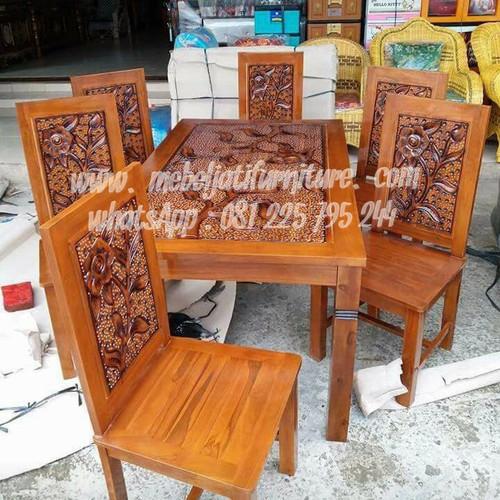 Foto Produk meja makan minimalis jati jepara dari Mebel Jati Furniture Jepara