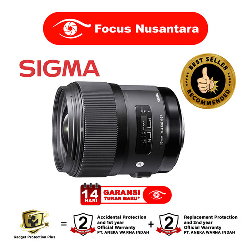 Foto Produk SIGMA 35mm f/1.4 DG HSM (A) (Nikon) dari Focus Nusantara
