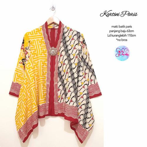 Foto Produk blus atasan batik KARTINI PARIS bigsize dari Lemari Batik Solo