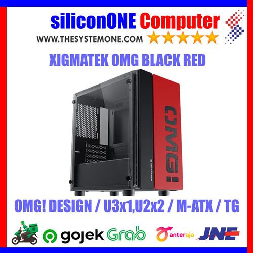 Foto Produk XIGMATEK OMG BLACK RED 0FAN MATX dari silicon ONE Computer
