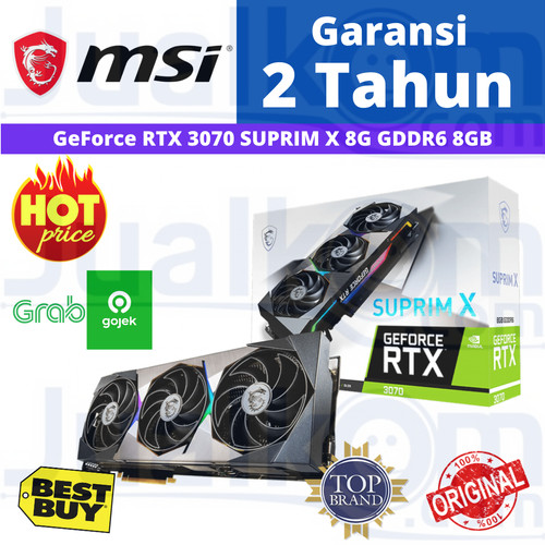 Foto Produk VGA MSI Geforce RTX 3070 RTX3070 SUPRIM X 8GB DDR6 256 BIT dari Karya Megah Computers