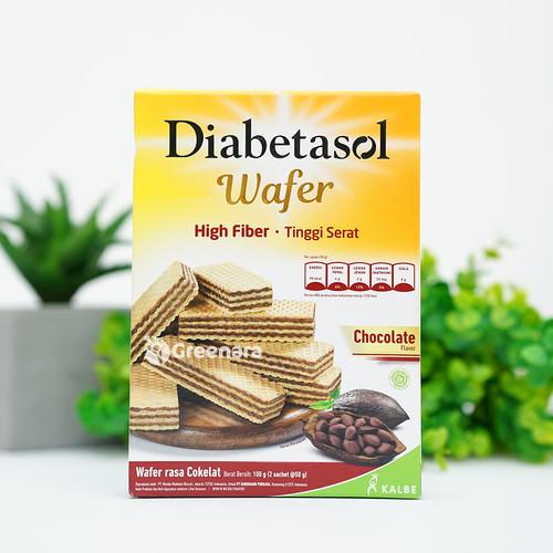 Foto Produk Diabetasol Wafer Chocolate 100gr ( 2 x 50 gr ) dari Greenara