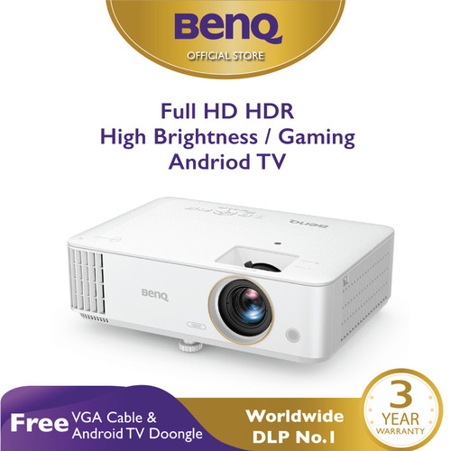 Foto Produk Home Projector BenQ TH685i FHD 3500 AL HDR Wireless Android TV Gaming dari BenQ Official Store