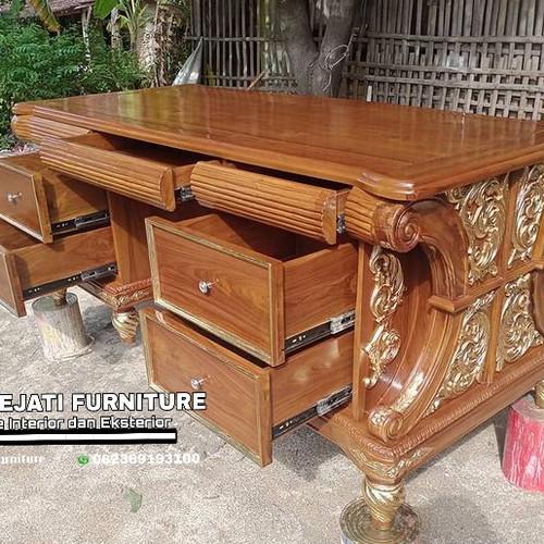 Foto Produk meja kantor kayu jati costum dari Putra Sejati Furniture