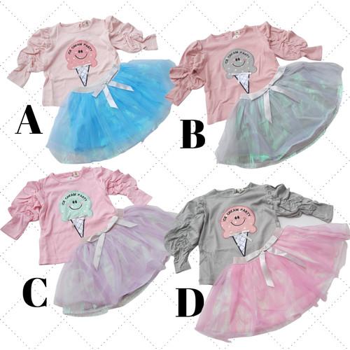 Foto Produk Setelan anak perempuan set celana rok fashion baju pergi K926 mi angel dari Goldenkid Shop